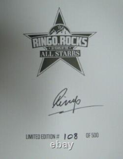 Ringo Starr Beatles Signed Book Ltd Edition #108 Of 500 30 Years Of All Starrs
