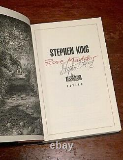 Rose Madder SIGNED FIRST EDITION Stephen King book Misery Carrie It Shining Mist