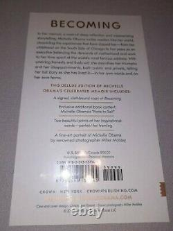 SEALED Signed Michelle Obama Becoming Deluxe Signed Edition Book