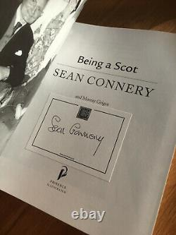 SEAN CONNERY Being A Scot Official SIGNED bookplate edition softback book 007