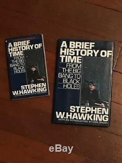 SIGNED Brief History Time FIRST EDITION Stephen Hawking Book theory everything