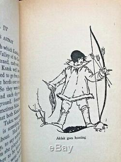 SIGNED Christmas Reindeer Thornton W Burgess 1st Edition Antique Children's Book