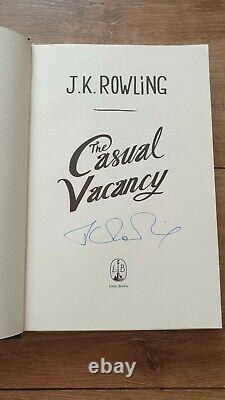 SIGNED JK Rowling Casual Vacancy (Harry Potter), 1st edition book, Hologram