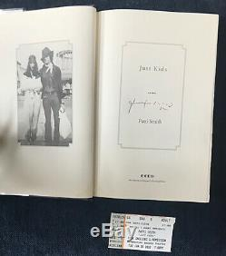 SIGNED Just Kids FIRST EDITION BOOK Patti Smith Robert Mapplethorpe horses no cd