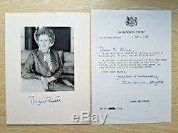 SIGNED M. Thatcher Leather SET 1/1 Edition Books, Doulton Bust, Iconic PHOTO