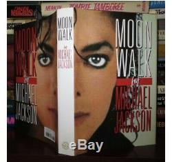 SIGNED MICHAEL JACKSON MOONWALK BOOK First Edition HCDJ Autobiography
