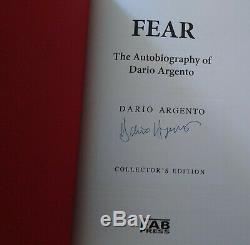 SIGNED! NEW OOP! Dario Argento FEAR Hardcover Book FAB PRESS Collector's Edition