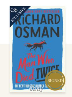 SIGNED Richard Osman The Man Who Died Twice GOLDSBORO Book Limited Edition 2000