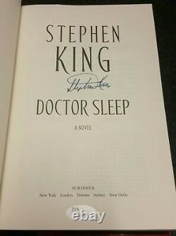 STEPHEN KING SIGNED DOCTOR SLEEP NOVEL BOOK FIRST EDITION WithCOA