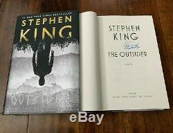 STEPHEN KING SIGNED'THE OUTSIDER' FIRST 1ST EDITION HARDCOVER BOOK NOVEL withCOA