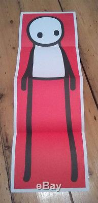 STIK signed doodled NEW book + RED poster print 1st edition