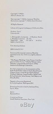 Signed David Hockney Art Book, Cameraworks 1st Edition