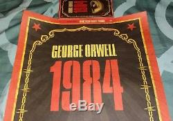 Signed Limited Edition Shepard Fairey Lot George Orwell 1984 Prints and Books