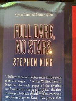 Signed Numbered Limited Edition Stephen King Full Dark No Stars Book