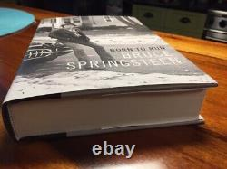 Springsteen Born to Run Signed Book FIRST Edition Autographed + UNUSED TKTS