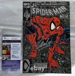 Stan Lee Signed Spider-man Silver Edition Comic Book Jsa Authenticated N63882