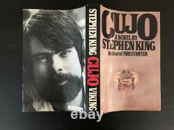 Stephen King Signed Autograph Cujo Book, Novel 1st First Edition, It Shining