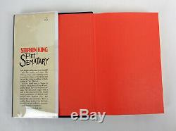 Stephen King Signed Autograph Pet Sematary 1st Edition/1st Printing Y38 HC Book