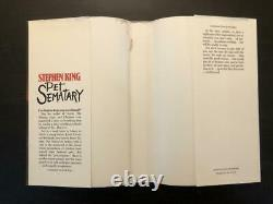 Stephen King Signed Autograph Pet Sematary Book, Novel 1st/1st First Edition