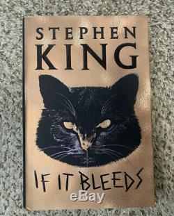 Stephen King Signed If It Bleeds 1st Edition Hardcover Book Rare 2020 + Bonus