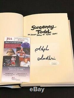 Stephen Sondheim Sweeney Todd Broadway Signed Autograph 1st Edition Book JSA