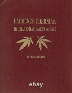 THE GREAT BOOKS of HASHISH v1 #3 Cherniak CANNABIS SIGNED, LIMITED 1ST EDITION