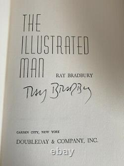THE ILLUSTRATED MAN Ray Bradbury SIGNED Vintage Book Club Edition Doubleday HBDJ