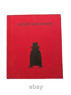 The Babadook Book Mister Babadook Limited Edition Signed Pop-up Book HORROR