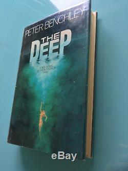 The Deep (Jaws sequel) Peter Benchley JAWS FIRST EDITION RARE shark signed book