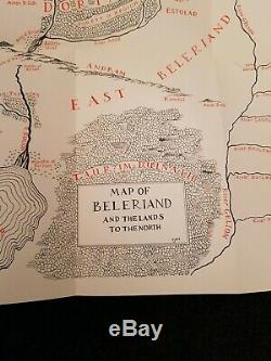 The Silmarillion by Tolkien 1st Edition Signed Book with Drawing 1977 with DJ