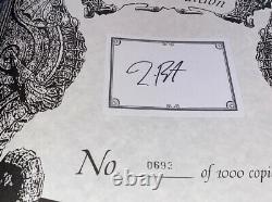Tim Burton Signed Limited Edition Book Dark Shadows #693/1000