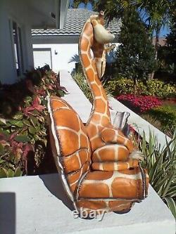 Todd Warner Giraffe Reading Book Sculpture Limited Edition Signed