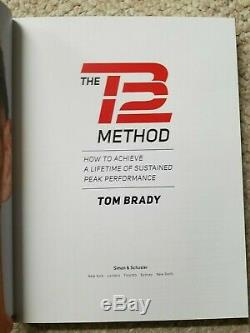 Tom Brady Signed Autographed Book The Tb12 Method Deluxe Edition Hardcover Goat