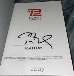 Tom Brady Signed Book The TB 12 Method Limited Edition