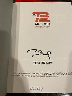 Tom Brady Signed TB12 Method Book Limited Edition Autograph Auto Super Bowl
