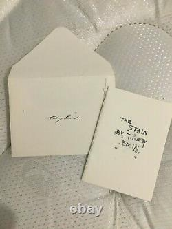 Tracey Emin signed limited edition miniature book- The Stain
