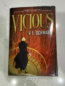 Vicious V. E. V E Schwab Signed Hardcover Book True First Edition 1st Print 2013