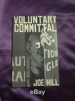 Voluntary Committal Autographed Signed by Joe Hill Book Special Edition of 250