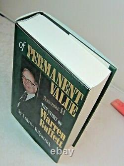 WARREN BUFFETT SIGNED 1994 of Permanent Value RARE BOOK First Edition & Printing