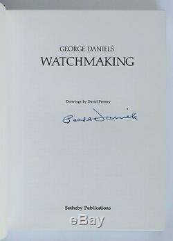 Watchmaking by George Daniels SIGNED First Edition Hardcover Book withDust Jacket