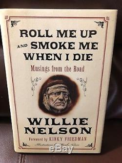 Willie Nelson Signed Book Autobiography 1st Edition Autographed JSA Auth