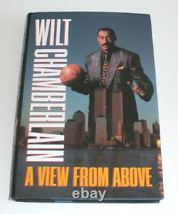 Wilt Chamberlain Autographed Signed Book A VIEW FROM ABOVE 1st Edition